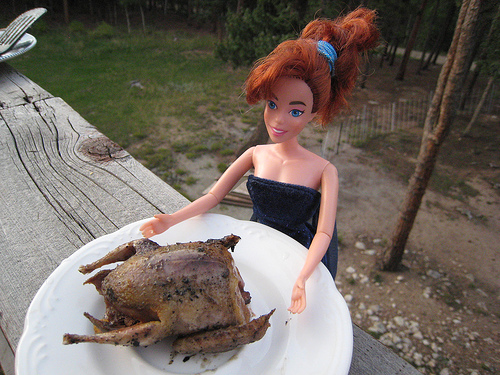 Peanut-allergic Barbie is not a vegetarian. Photo © Bugeater | Flickr