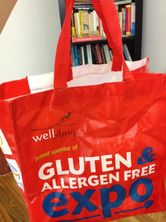 Gluten-Free and Allergy-Free Expo giveaway drawing tote bag