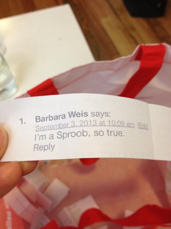 Congrats, Barbara!