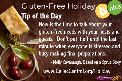 NFCA gluten-free holiday tip of the day