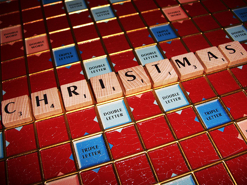 Christmas Scrabble game