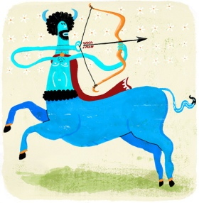 Your sign is the archer. Your aim is true; your skin is blue. (Probably a complication of celiac.) Photo © Migy illustration | Flickr