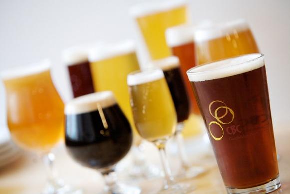 various beers in glasses