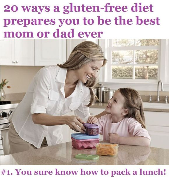 mom and daughter packing lunch together gluten-free