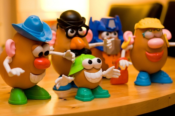 Mr. Potato Head and family