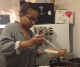 friend serving herself vegetarian Hoppin' John