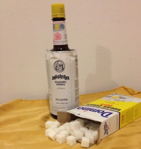 Angostura bitters and Dominos sugar cubes