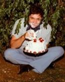 Johnny Cash (eating cake)
