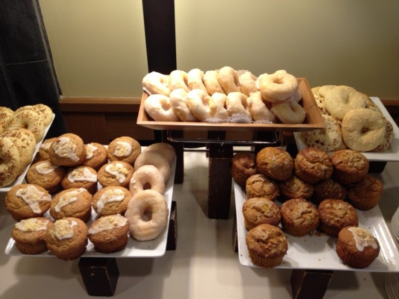 gluten-free muffins, donuts, and bagels at conference